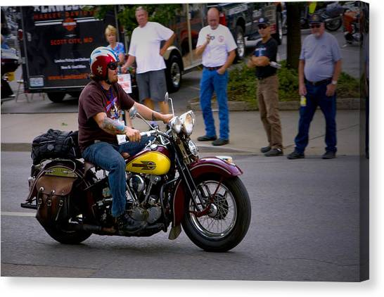Un-named Crosscountry Harley Canvas Print