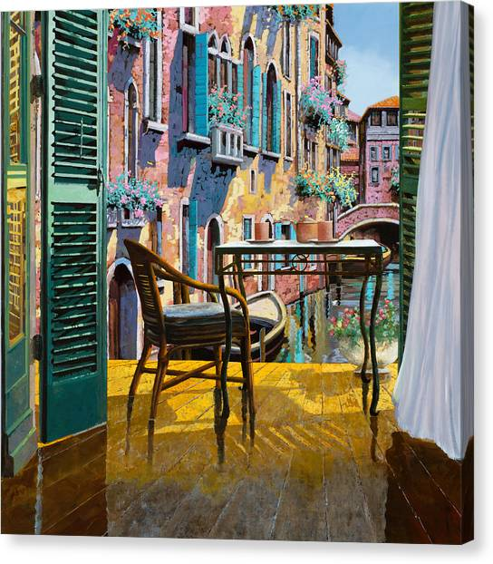 Cocktail Canvas Print - Un Soggiorno A Venezia by Guido Borelli