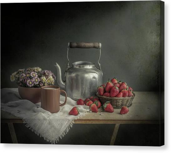 Milk Canvas Print - Unassuming by Margareth Perfoncio
