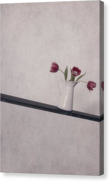 Vase Of Flowers Canvas Print - Unbalanced Flowers by Joana Kruse