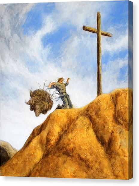 Pilgrims Canvas Print - Unburdened by Douglas Ramsey