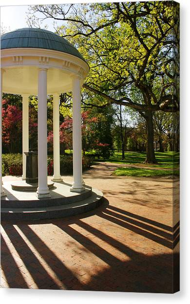 University Of North Carolina Chapel Hill Canvas Print - Unc-ch Old Well And Mccorkle Place by Orange Cat Art