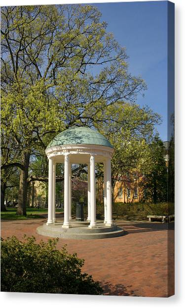University Of North Carolina Chapel Hill Canvas Print - Unc-ch Old Well by Orange Cat Art