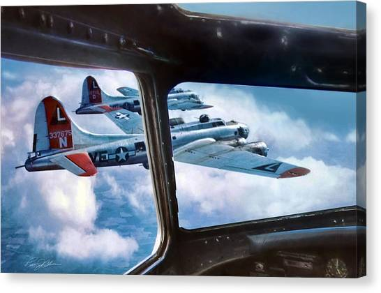 United States Army Air Corps Canvas Print - Unchallenged  by Peter Chilelli