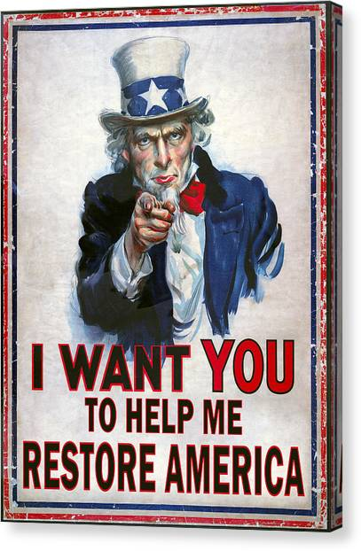 Nsa Canvas Print - Uncle Sam Needs Help by Daniel Hagerman