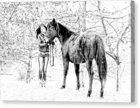 Unconditional Love Canvas Print by Frank Sciberras
