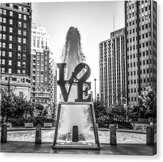 Unconditional Love Canvas Print - Unconditional Love In Black And White by Bill Cannon