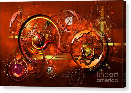 Clockwork Orange Canvas Print - Uncontrolled Reality by Franziskus Pfleghart