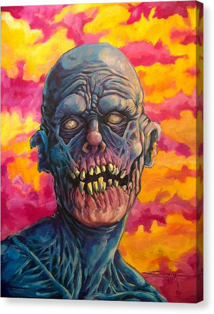 Zombieland Canvas Print - Undead Fred by Seth Michael
