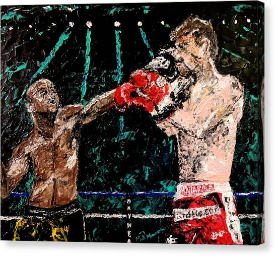 Floyd Mayweather Canvas Print - Undefeated - Floyd Mayweather Jr  by Mark Moore