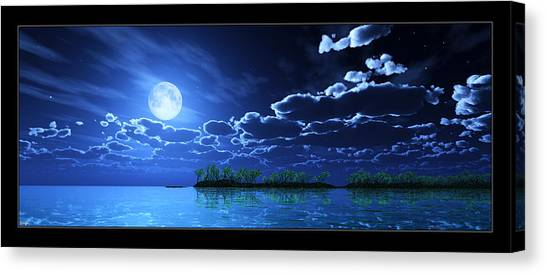 Under A Silvery Moon... Canvas Print