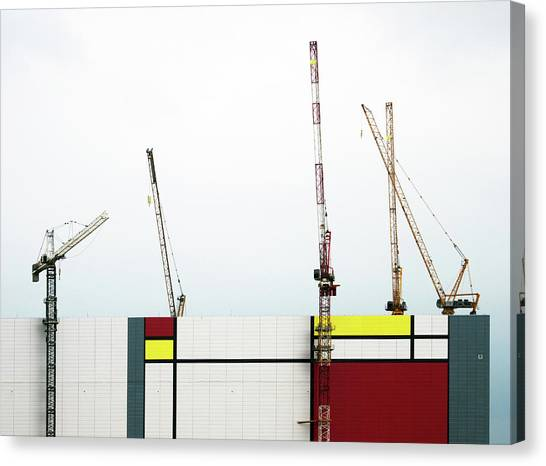 Cranes Canvas Print - Under Construction by Donghee, Han