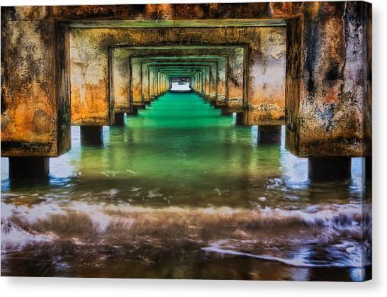 Under Hanalei Pier Canvas Print