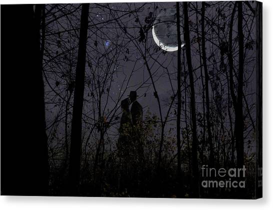 Under The Moon Canvas Print - Under Moon by David Arment