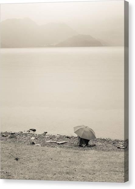 Under My Umbrella Canvas Print by Cristel Mol-Dellepoort