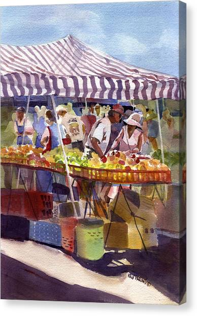 Under The Awning Canvas Print