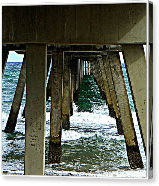 Under The Boardwalk  Canvas Print by Dianne  Lacourciere