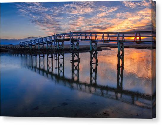 Sandwich Canvas Print - Under The Boardwalk by Michael Blanchette