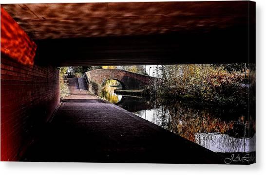 Under The Bridge Canvas Print by Lina Jordaan