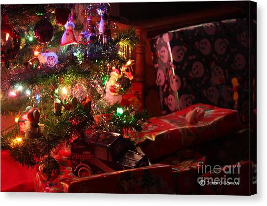 Under The Christmas Tree Canvas Print