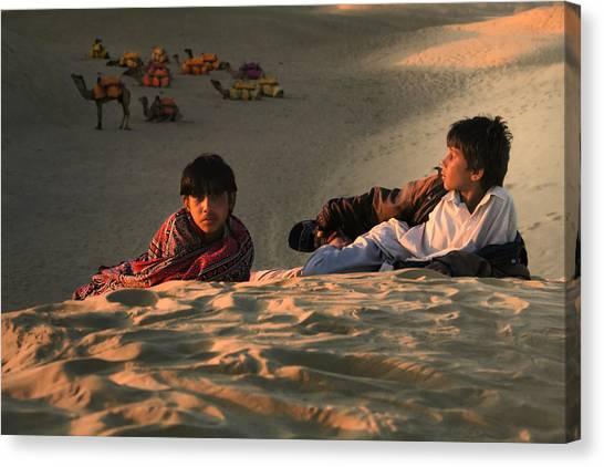 Thar Desert Canvas Print - Under The Desert Sky.. by A Rey