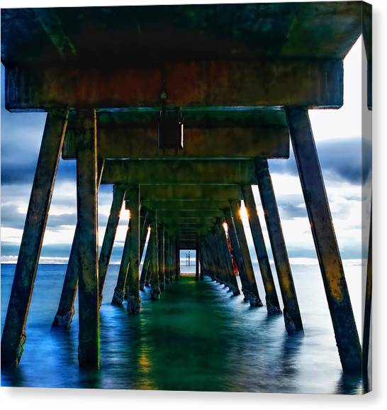Under The Glenelg Jetty Canvas Print