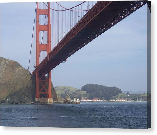 Under The Golden Gate - San Francisco Golden Gate Bridge 2006 - Scenic Photography - Ai P. Nilson Canvas Print