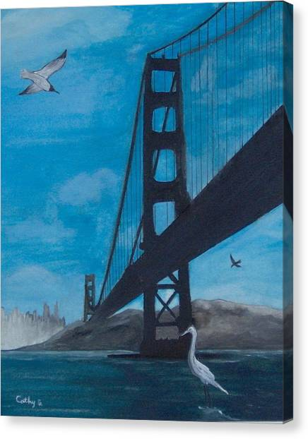 Under The Golden Gate Bridge Canvas Print
