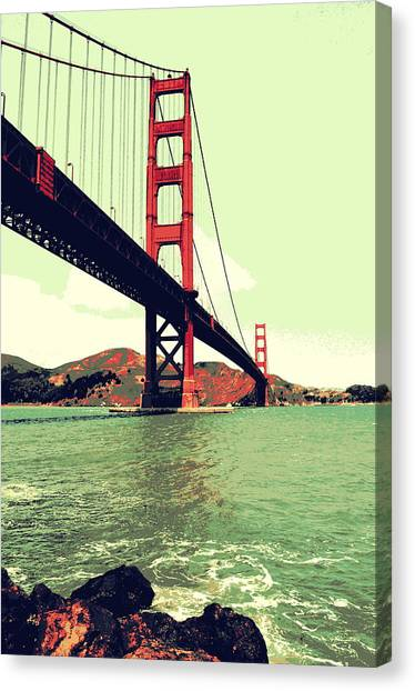 Under The Golden Gate Canvas Print
