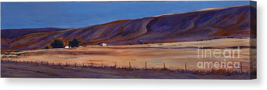 Under The Hills  1 Canvas Print by Betsee  Talavera