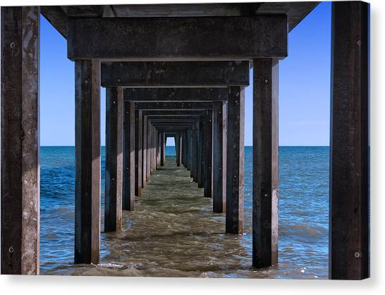 Under The Jetty Canvas Print