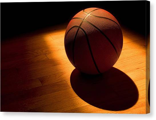 Basketball Canvas Print - Under The Lights by Andrew Soundarajan