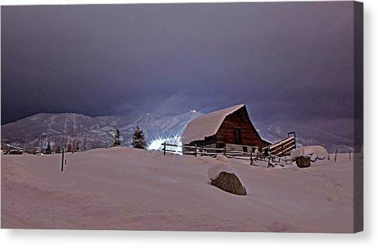 Under The Lights Canvas Print