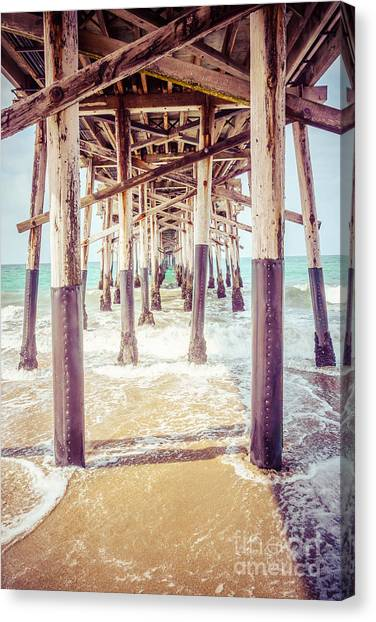 Summer Canvas Print - Under The Pier In Southern California Picture by Paul Velgos