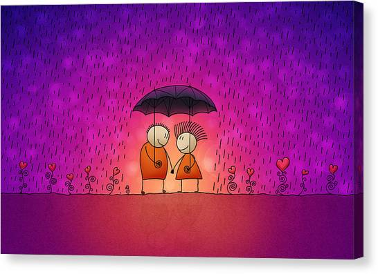 Rain Canvas Print - Under The Rain by Gianfranco Weiss