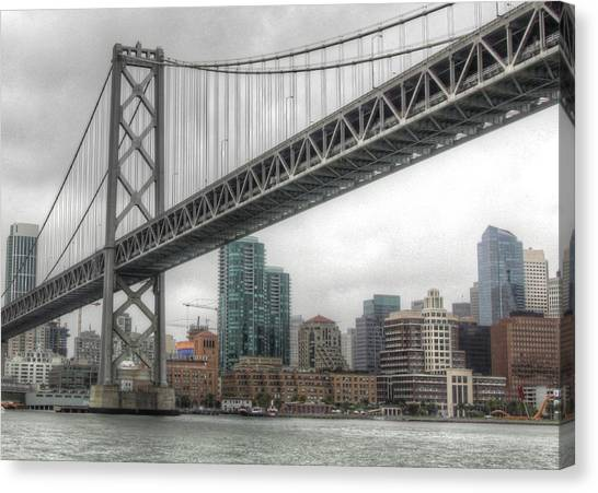 Under The San Francisco Bay Bridge Canvas Print