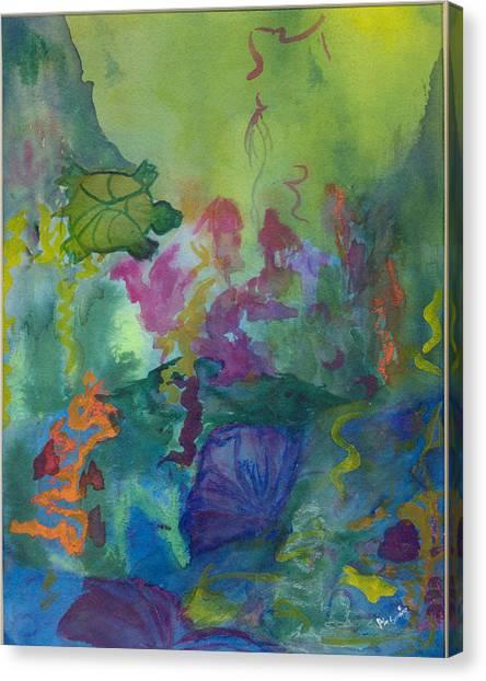 Under The Sea Canvas Print by Phoenix Simpson