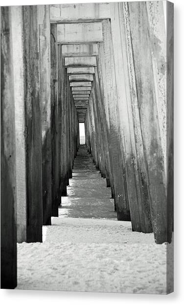 Under The The Pier Canvas Print by Thomas Fouch