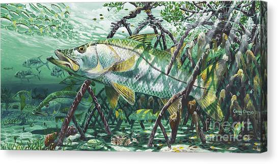 Fly Fishing Canvas Print - Undercover In0022 by Carey Chen