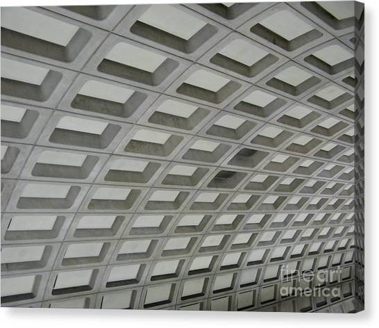 Underground. Washington Dc. Usa Canvas Print