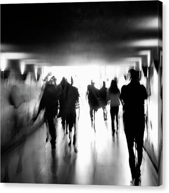 Tunnels Canvas Print - Underground Pathway by Andrea Klein