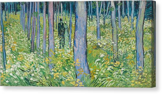 Vincent Van Gogh Canvas Print - Undergrowth With Two Figures, 1890  by Vincent van Gogh