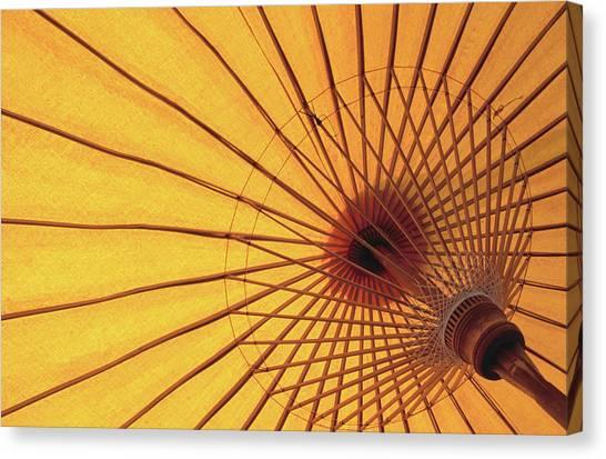 Underside Of Yellow Parasol, Symbol Of Canvas Print by Antony Giblin