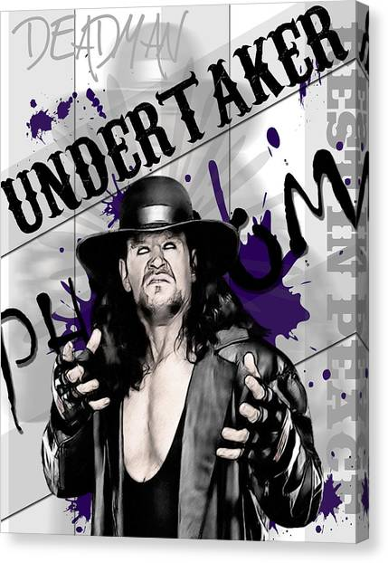 Undertaker Canvas Print - Undertaker by Anibal Diaz