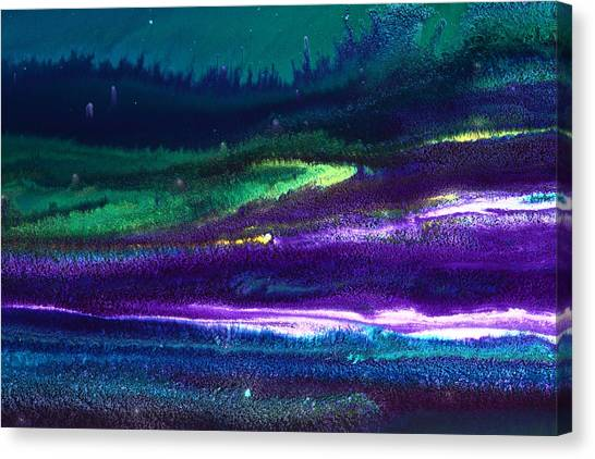 Underwater Landscape Abstract Canvas Print