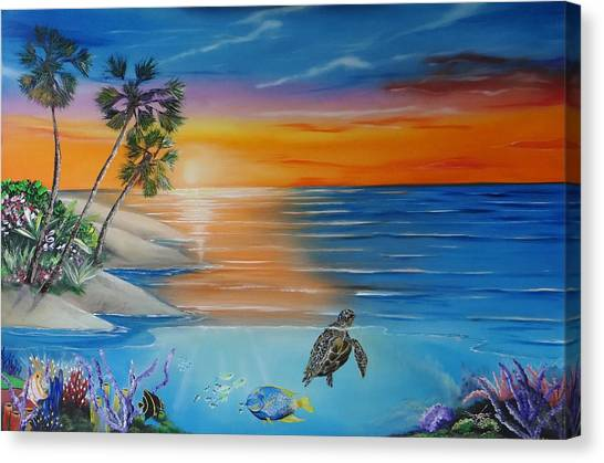 Underwater Paradise Canvas Print