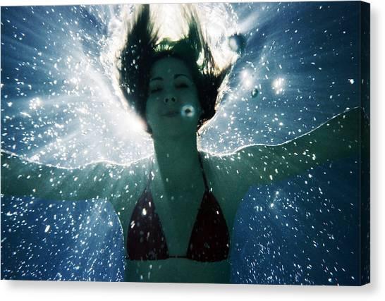 Underwater Self-portrait Canvas Print