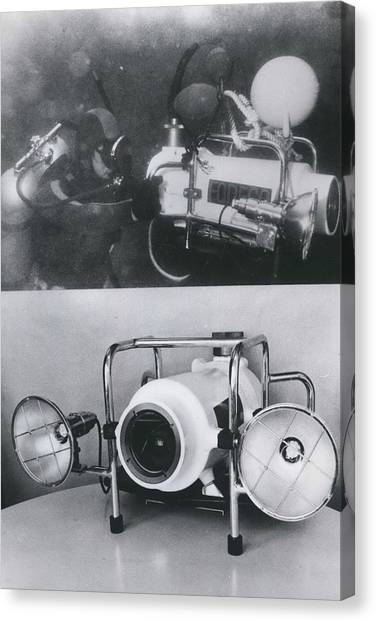 Underwater Tv Colour Camera Canvas Print by Retro Images Archive