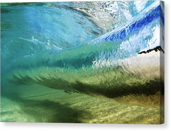 Underwater Wave Curl Canvas Print