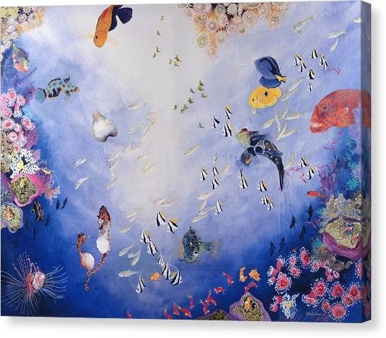Ocean Life Canvas Print - Underwater World Iv  by Odile Kidd